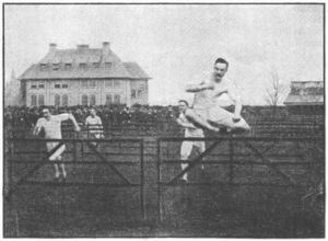Competición de atletismo en el Detroit Athletic Club de Detroit en 1888.